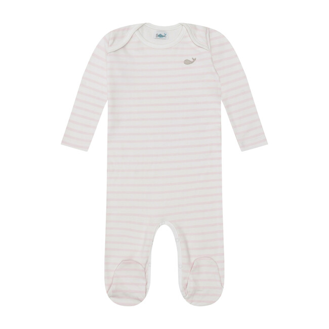 Pima Onesie, Pink Stripes