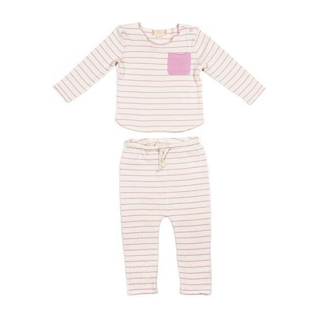 Bobbi Knit Set, Pink Stripe