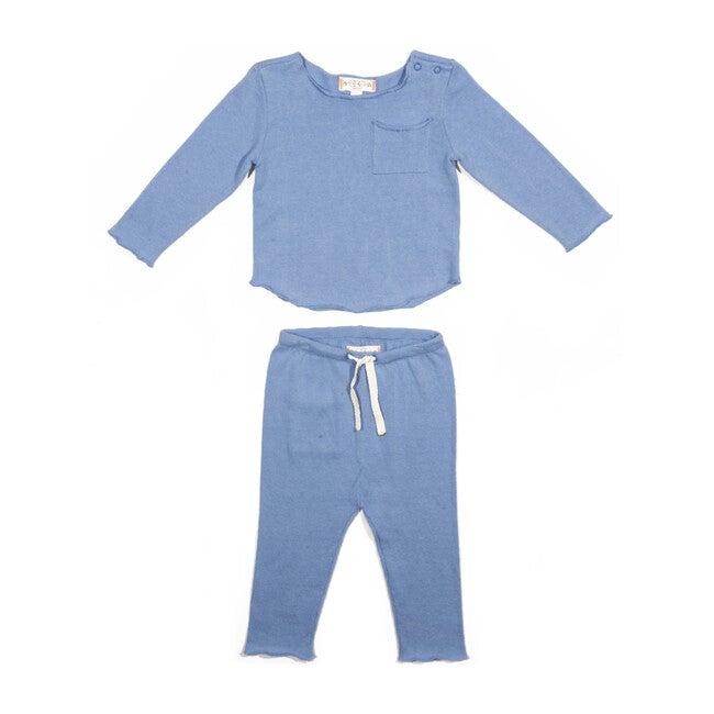 Bobbi Knit Set, Blue