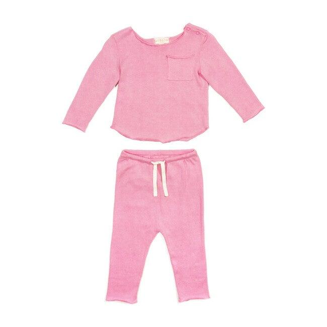 Bobbi Knit Set, Pink