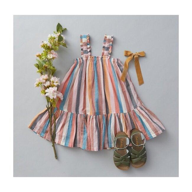 Emma Dress, Multi Stripe
