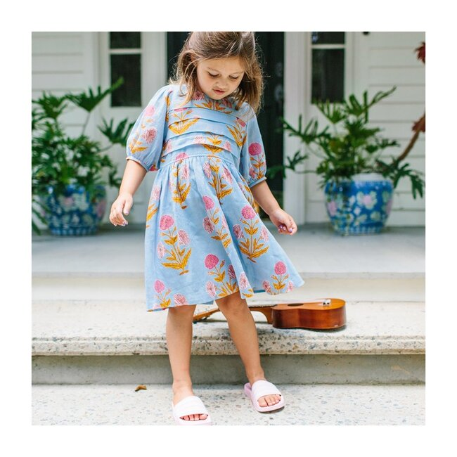 Evelyn Dress, Blue Bell Oversized Dandelion