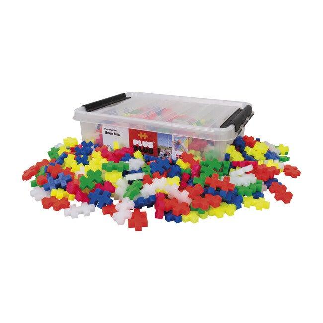 Big 200 Piece in Tub, Neon - STEM Toys - 1