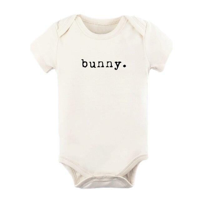 Bunny Short Sleeve Onesie, Black