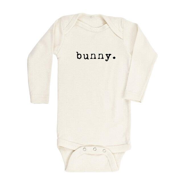 Bunny Long Sleeve Onesie, Black