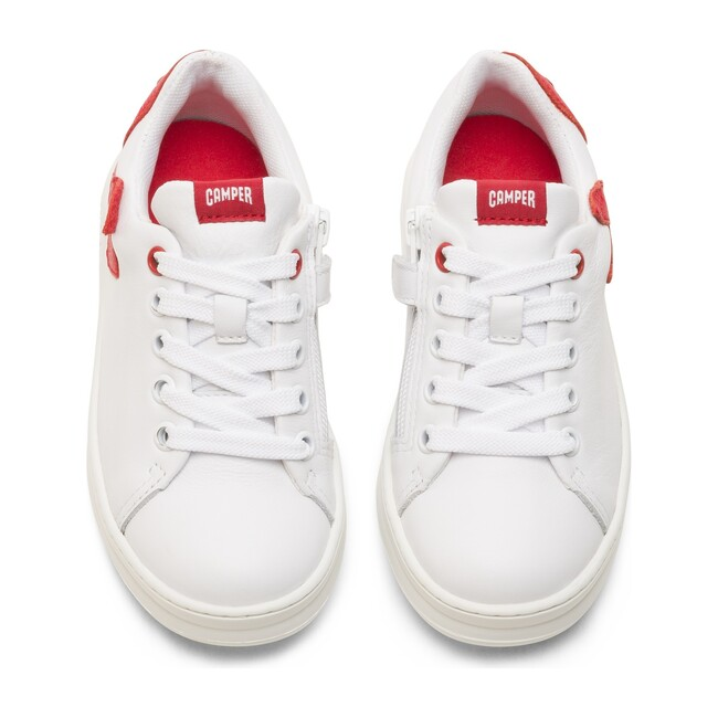 TWS Kids Sneakers, White & Red