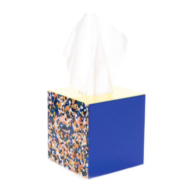 Patchwork Acrylic Tissue Box, Mom's Quilt