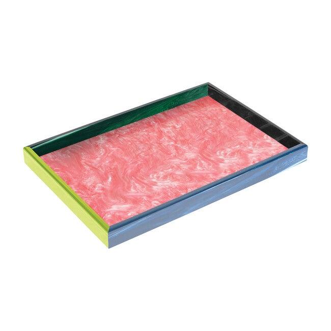 XL Acrylic Tray, Harlequin Rainbow