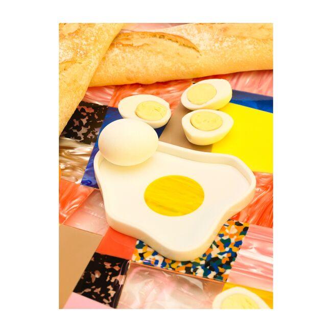 Cracked Egg Acrylic Catchall, White/Yellow