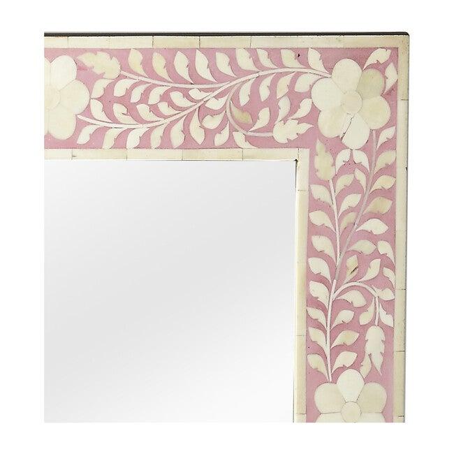 Vivienne Bone Inlay Wall Mirror, Pink