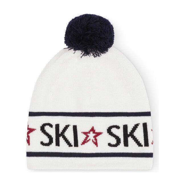 Ski Beanie, Navy/White
