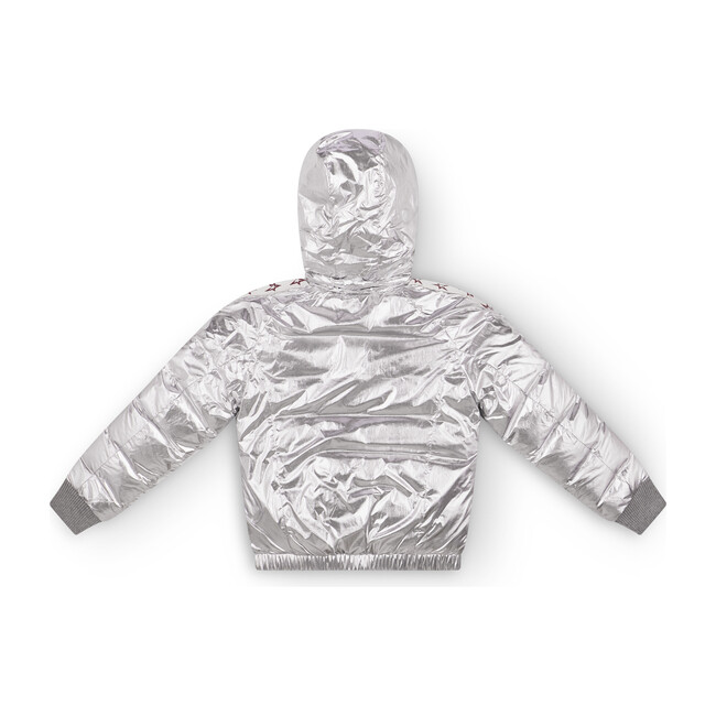 Kids Star Jacket, Silver Foil