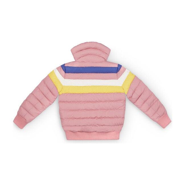 Kids Queenie Jacket, Pure Pink Rainbow