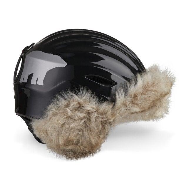 Polar Bear Helmet, Black with Faux Fur
