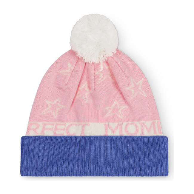 PM Star Beanie, Pink/Royal Blue