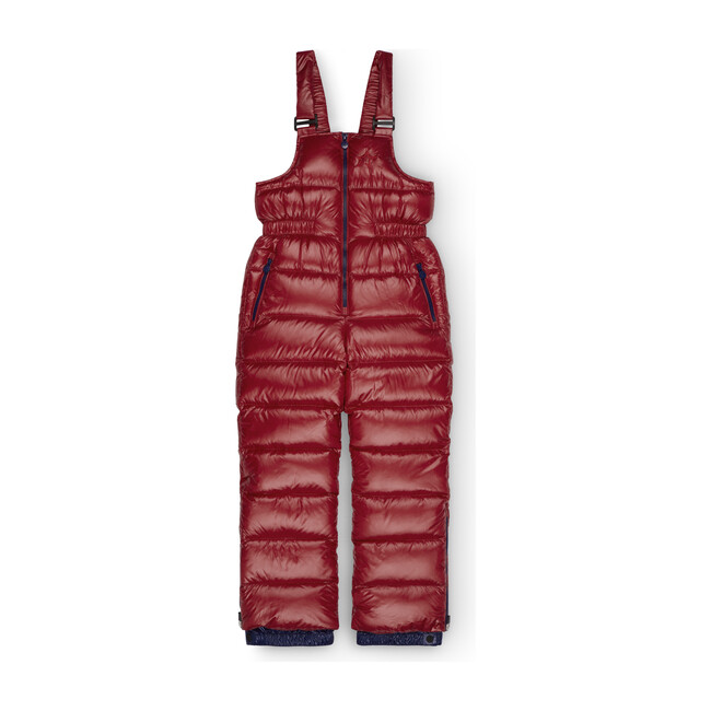 Kids Davos Quilted Salopetite, Red