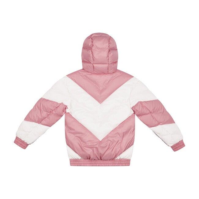 Kids Aspen Puffer, Pure Pink Chevron