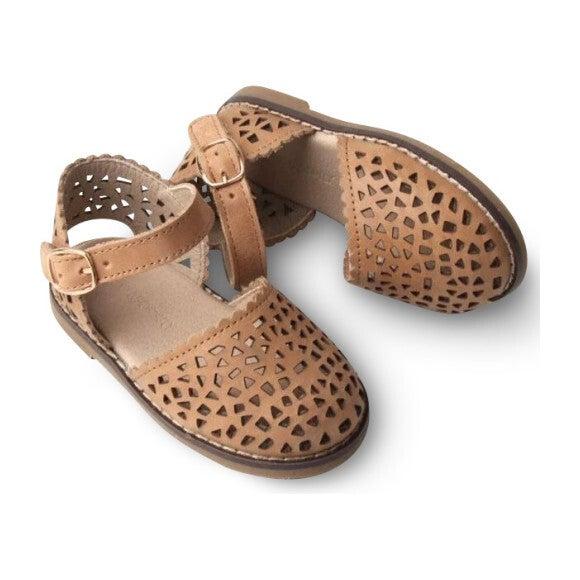 Leather Pocket Sandal, Sand