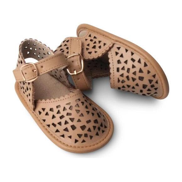 Leather Pocket Sandal, Tan