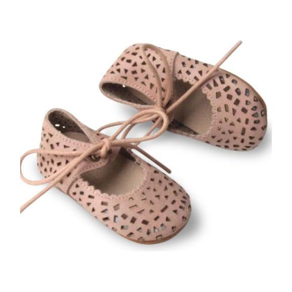 Leather Boho Mary Janes, Rosewater