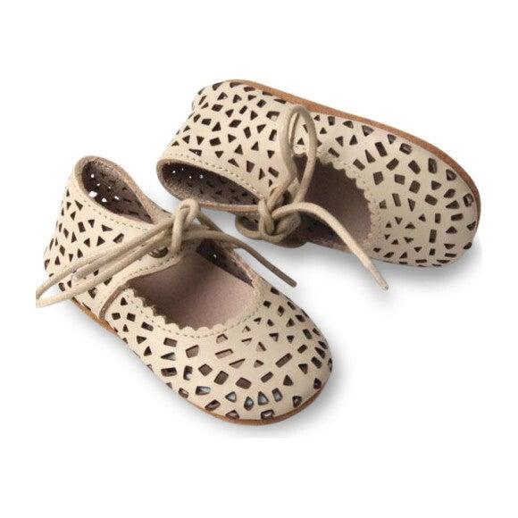 Leather Boho Mary Janes, Oatmeal