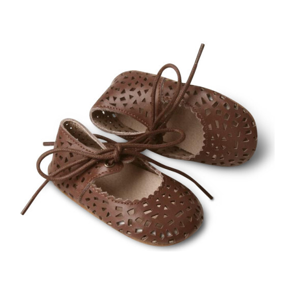 Leather Boho Mary Janes, Hazelnut