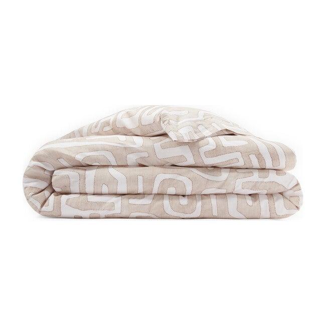 Classic Kuba Cloth Duvet, Blush