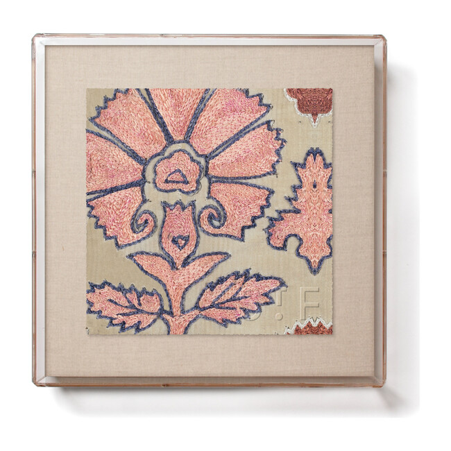 Blush Daisy Suzani Mini Framed Print, Multi