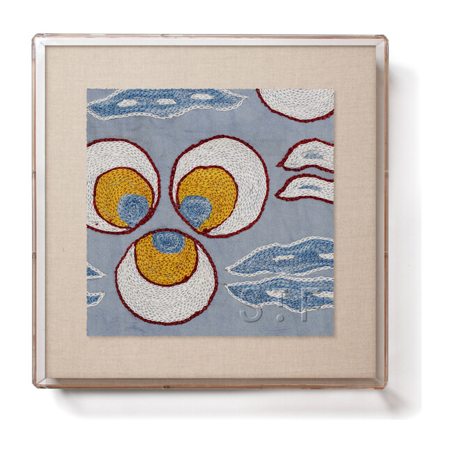 Sky Chintamani Mini Framed Print, Blue Multi