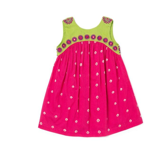 Kate Dress, Pink Polka Dot