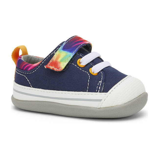 Stevie II First Walker, Navy & Tie Dye