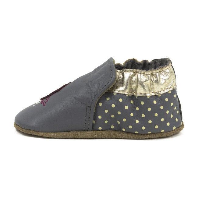 Dahlia Slip On, Grey & Gold