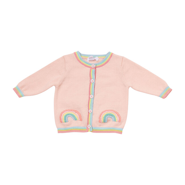 California Dreaming Rainbow Cardigan, Pink Multi