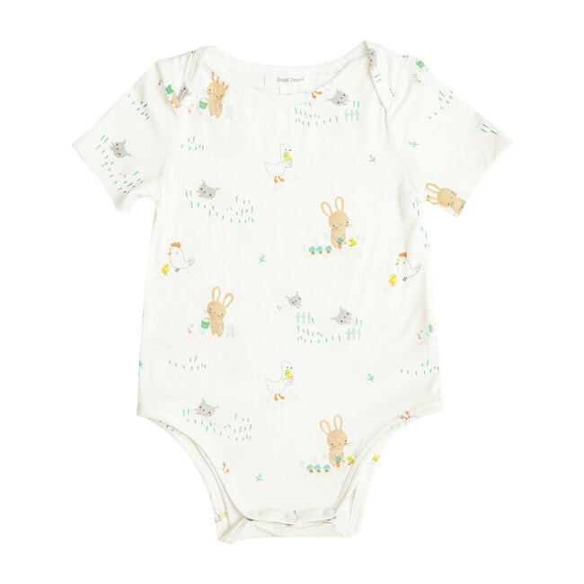 Little Farmer Boy Bodysuit, Ivory