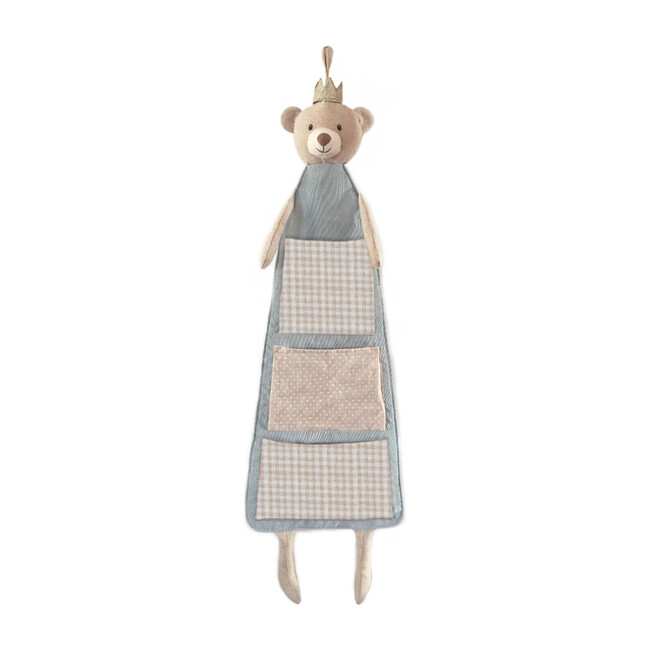 Prince Bear Hanging Fabric Organizer