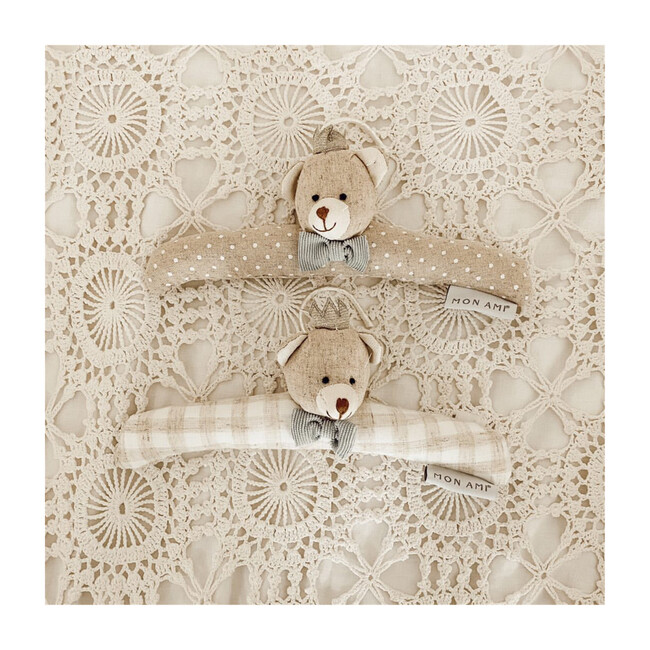 Prince Bear Padded Baby Hangers