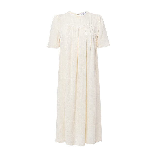 Layered Pleat Front Maternity Dress