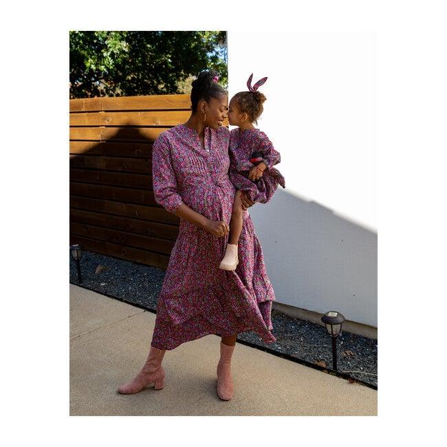 Women's Bazaar Dress, Hedgehog Boysenberry