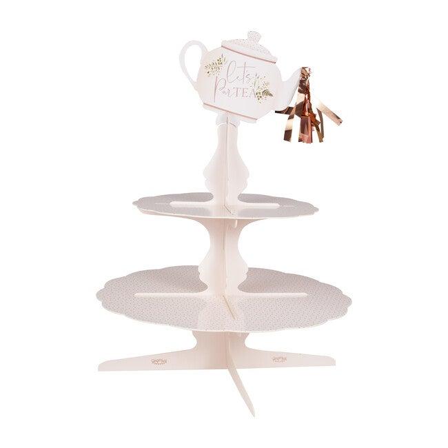 Cake Stand, Floral Tea Pot