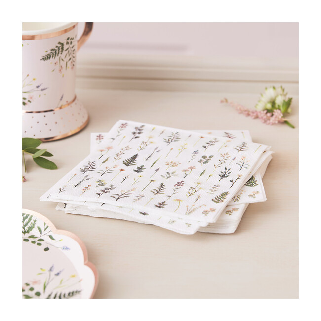 Paper Napkins, Floral Print