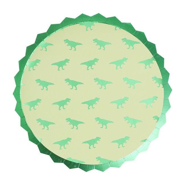 Foiled Paper Plates, Dinosaur