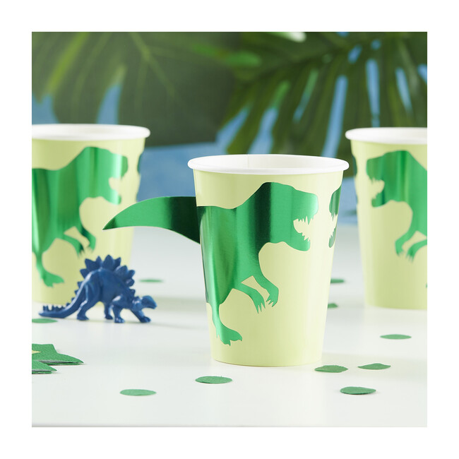 Foiled Paper Cups, Dinosaur