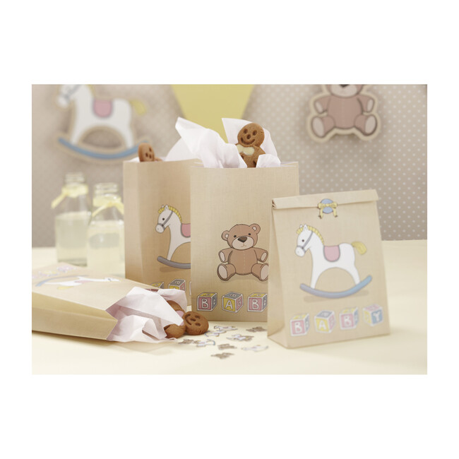 Party Goodie Bags, Rocking Horse & Teddy Flags