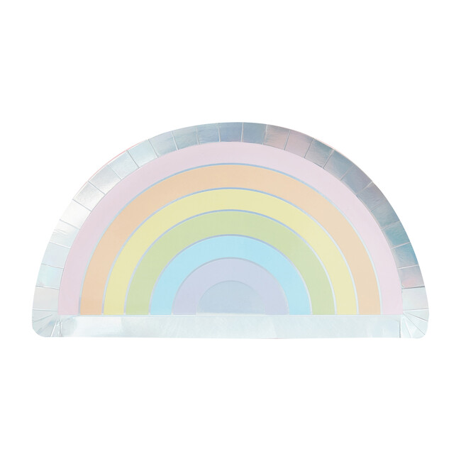 Foiled Paper Plates, Rainbow