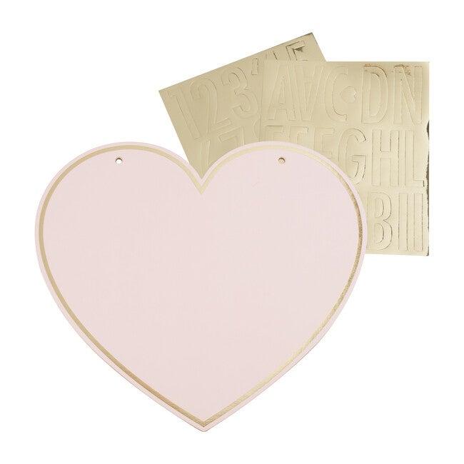 Customizable Pink Heart Name Sign