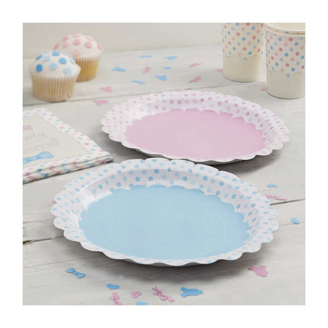 Paper Plates, Pink And Blue