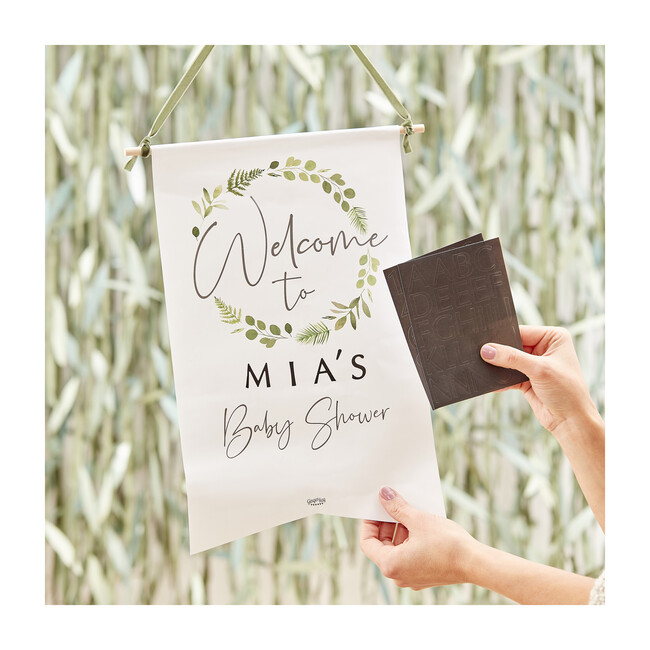 Baby Shower Customizable Welcome Sign