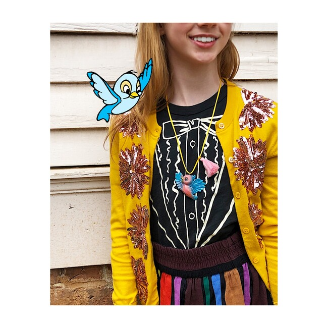 Birdie the Blue Bird Necklace