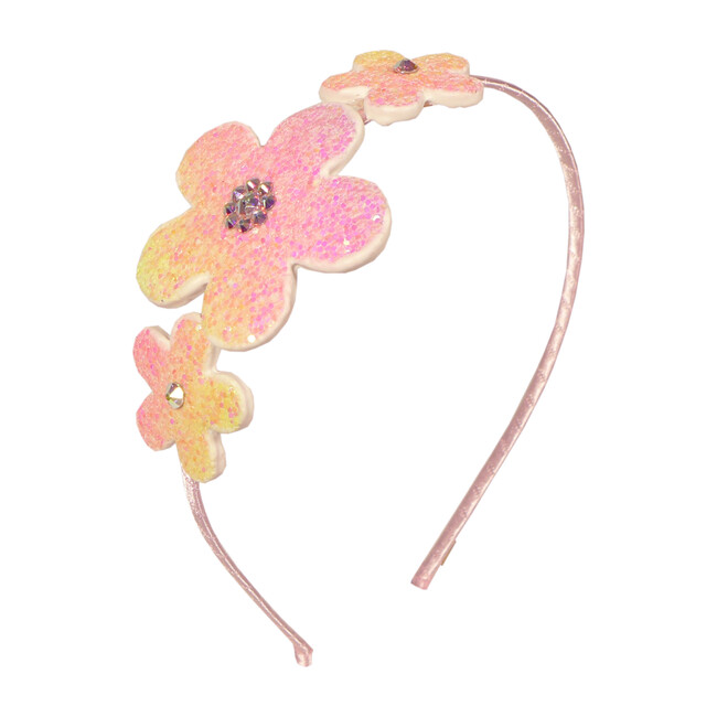 Glitter Flower Headband, Pink