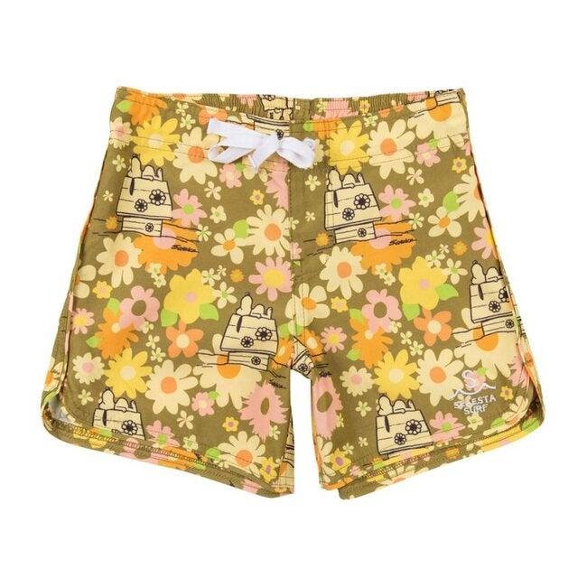 Boys Seaesta Surf x Peanuts® Ditsy Floral Boardshorts